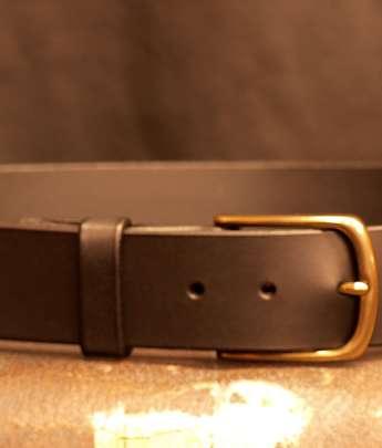 ceinture cuir laiton classique
